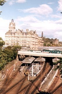 Balmoral Hotel and Waverley Station, Edinburgh