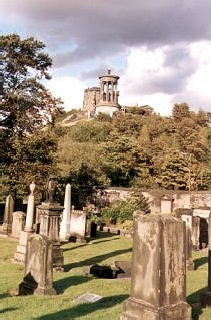 Calton Hill from the Old Calton Burial Ground, Edinburgh