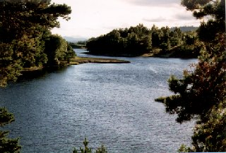 River Spey at Loch Insh, from the Old Kirk at Kincraig