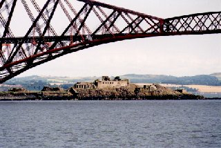 Inchgarvie Island beneath the Forth Rail Bridge