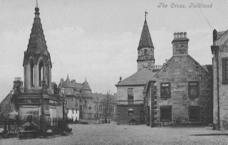 Old Photograph of Falkland Cross