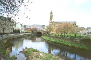 White Cart Water and Town Hall, Paisley