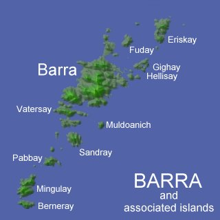 Terrain Map of Barra and associated islands