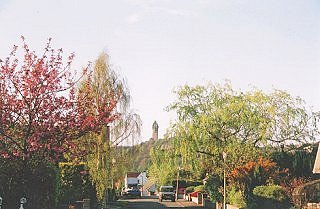 Cambuskenneth with Wallace Monument in the distance