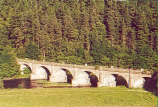 Neidpath Viaduct over the River Tweed, west of Peebles