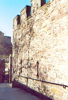 Flodden Wall above the West Port
