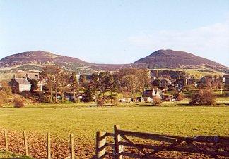 Eildon Hills from Melrose