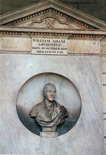 Grave of William Adam in Greyfriars Kirkyard