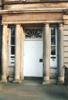 Pedimented entrance in Queen Street