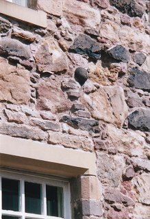The cannonball embedded in Cannonball House, Edinburgh