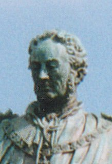 Detail of Walter Montagu Douglas Scott, the 5th Duke of Buccleuch, from his statue