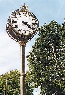 Clock at Morningside Station, Edinburgh