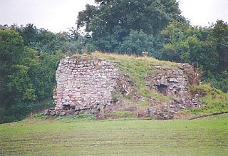 The remains of Wallace's Tower, Roxburgh