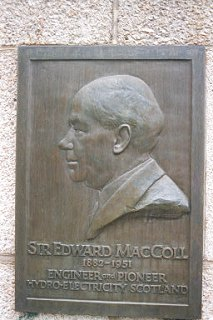 Memorial to Sir Edward MacColl at Pitlochry Power Station