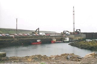 Gills Harbour, providing a ferry to Orkney
