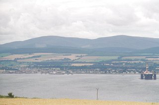 Invergordon and the Cromarty Firth from the Black Isle