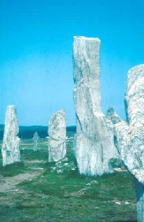 The standing stones of Callanish, a prehistoric ritual landscape