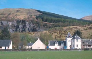 Ballachulish village and the Larach slate quarry
