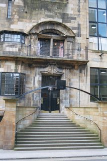 Entrance, Mackintosh Building, Glasgow School of Art