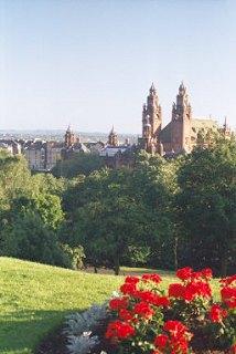 View over Kelvingrove Park, Glasgow