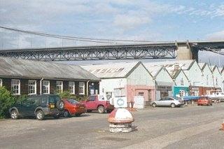 Port Edgar Marina and the Forth Road Bridge