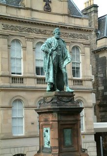 Statue of Lord Provost William Chambers in Chambers Street, Edinburgh