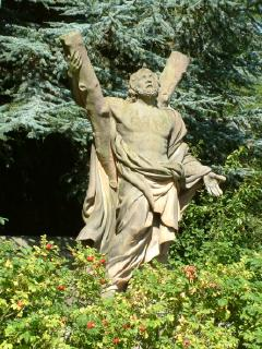 Statue of St Andrew at St. Andrews Botanic Garden