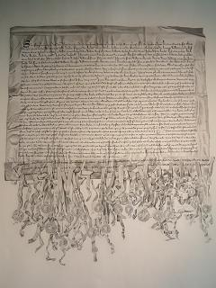 Copy of the Declaration of Arbroath, Arbroath Abbey