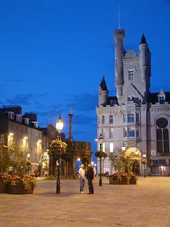 Castlegate at Night, Aberdeen
