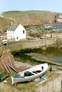 The Harbour, St. Abbs and St. Abb's Head beyond