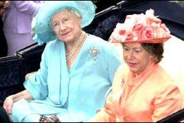 Queen Elizabeth the Queen Mother and Princess Margaret