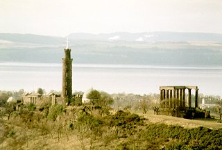 Calton Hill, the River Forth and Fife beyond