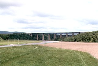The River Findhorn and the Findhorn Railway Viaduct near Tomatin