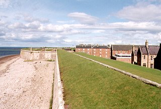 Fort George, looking south towards accommodation blocks