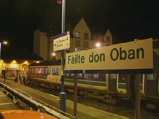 Oban Railway Station at Night
