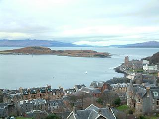 View from Oban over the Sound of Kerrera