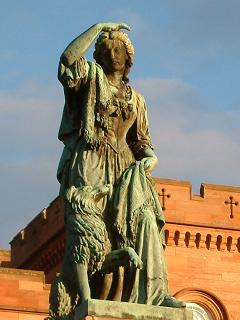 Flora MacDonald Statue at Inverness Castle