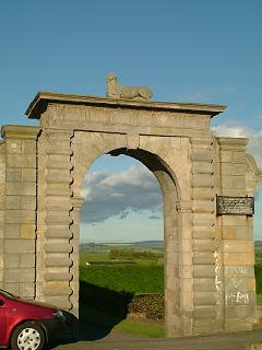 Arch which once formed the entrance to Woolmet House
