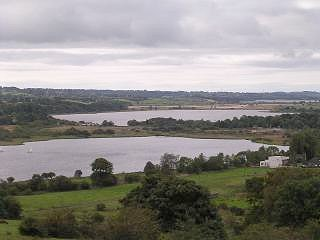 Castle Semple Loch with Barr Loch in the distance