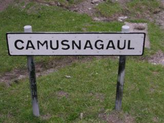 Camasnagaul road sign