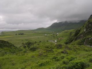 Cleadale, Eigg, with An Cruachan to the right