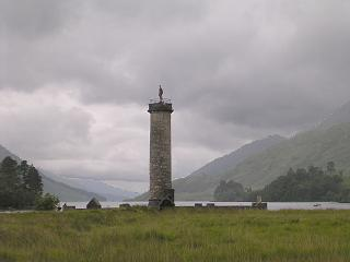Glenfinnan Monument with Loch Sheil behind