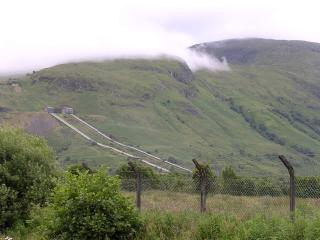 Water pipes of the Lochaber Project at Fort William