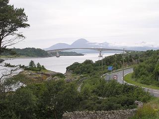 Skye Bridge, seen from Kyle of Lochash