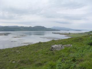 Fish farming in Loch Kishorn