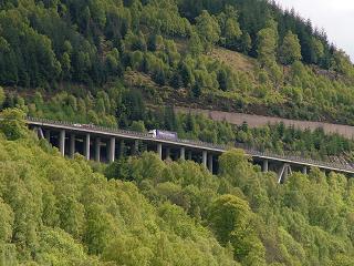 A9 Trunk Road at Killiecrankie