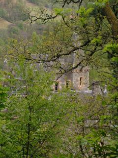 Bonskeid House through the trees