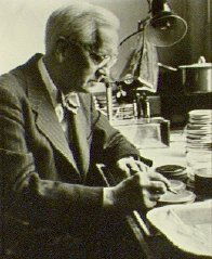 Sir Alexander Fleming at work