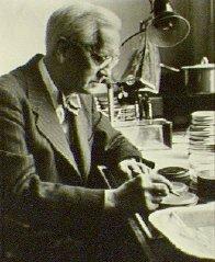 Sir Alexander Fleming at work