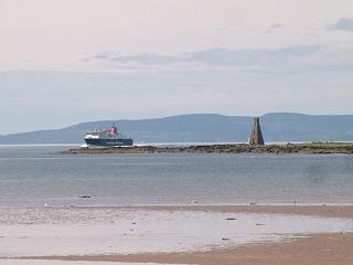 Horse Island and the Arran Ferry in the Firth of Clyde